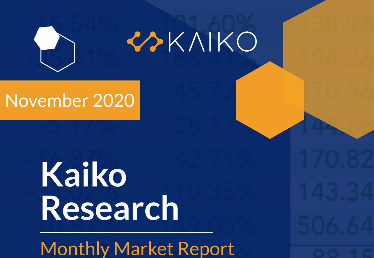Kaiko's November Market Report