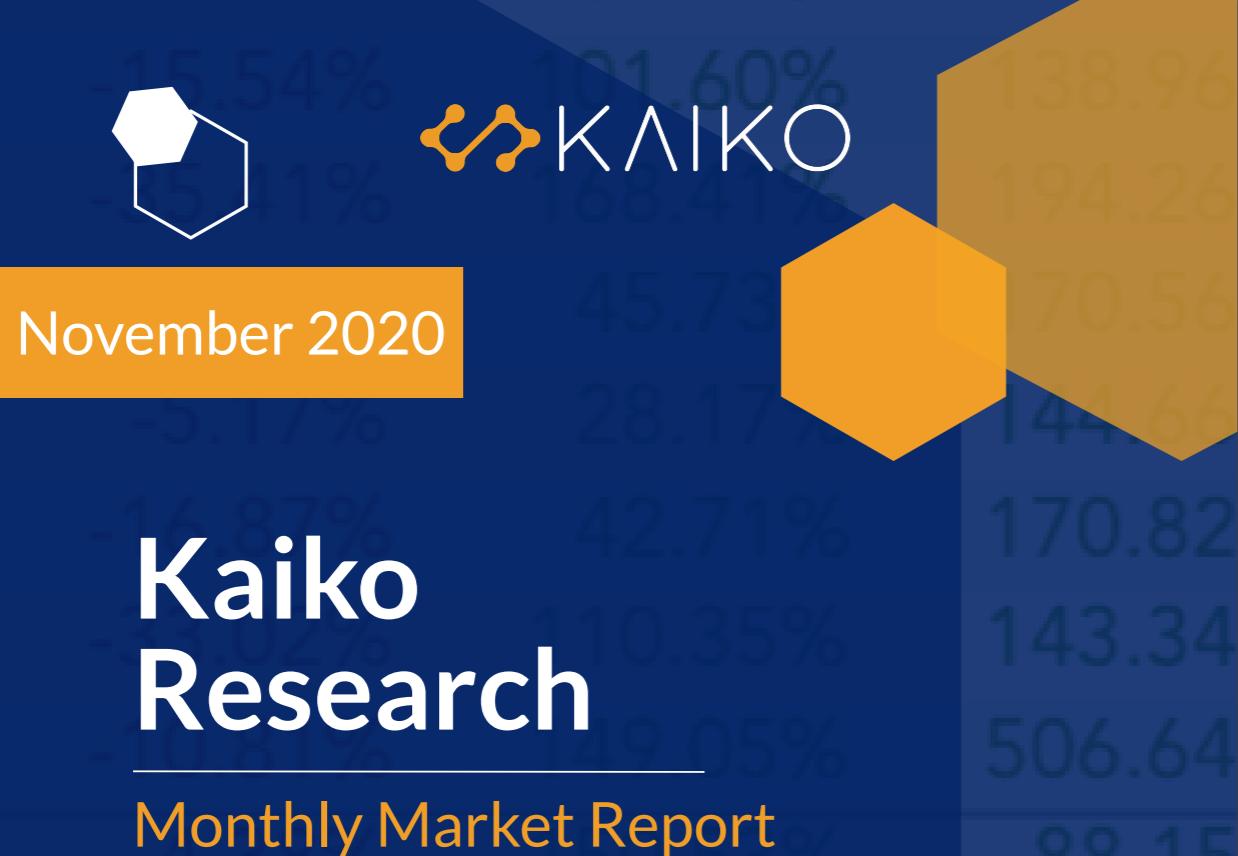 Kaiko's November Market Report